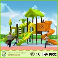 Tree House Series Kids Games Modern Type LLDPE Outdoor Playground Slide Toy