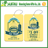Long Lasting Smell Good Scented Hanging car air freshener wood