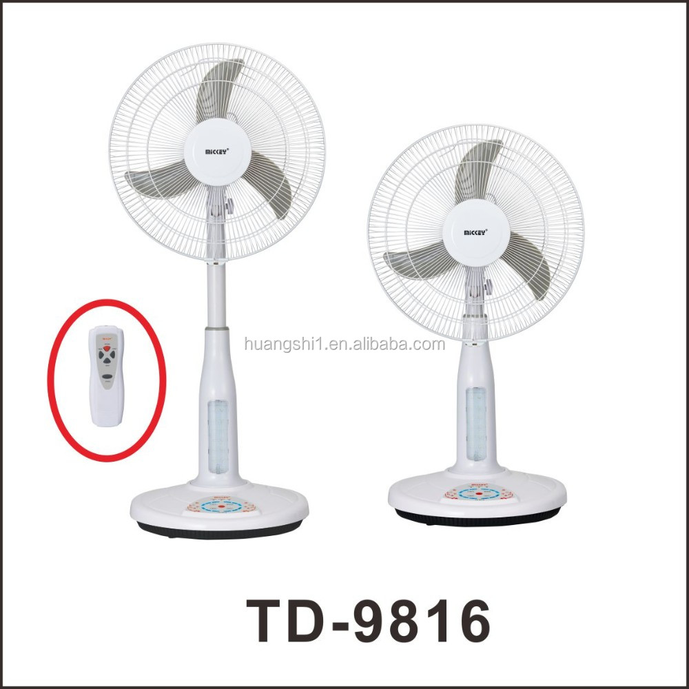 TD-9816 16 inch Battery Operated Emergency Fan Air Cooling Stand Fan with Remote Control