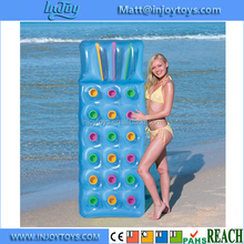 Fashion Inflatable 18 Pocket Sun Lounger Lilo