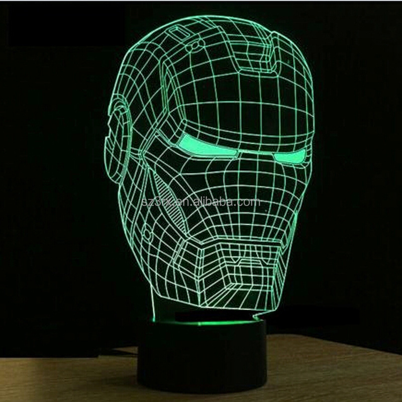 movie character decoration led light, acrylic led night light base, custom creation led ight light