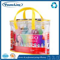 recyclable red pvc wine promotional bag