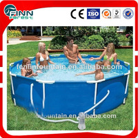 china design large outdoor above ground inflatable plastic swimming pool