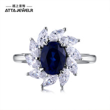 synthetic blue gemstone silver rings in silver jewelry for ladies and women