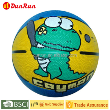 Full Printed Mini Rubber Basketball for Children