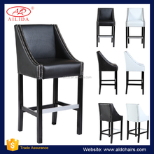 BC-101 Modern Style Black And White Bar Chair Counter Chair With Wooden Legs