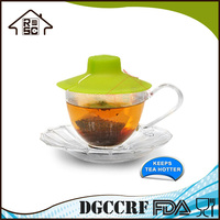 NBRSC Strict Quality Control Manufacturer Tea Bag Buddy Silicone Cup Cover with String Holder