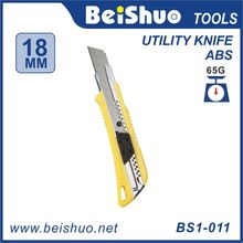 Utility cutter knife,pocket knife rubber cutter hand tools Auto Retractable Pocket Safety Utility Box Cutter
