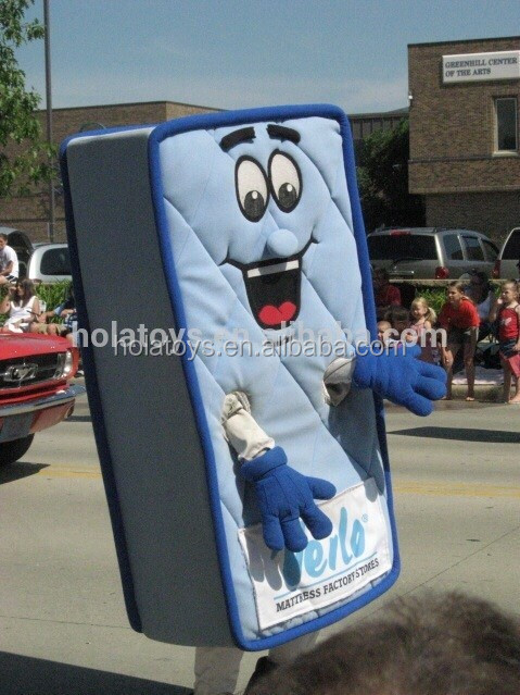 Hola mattress man mascot costume/custom mascot costume for sale