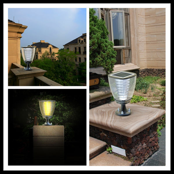 china dekor led solar garten lichtmast licht f r zaunpfosten hof leuchte produkt id 60125111466. Black Bedroom Furniture Sets. Home Design Ideas