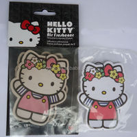 Popular sale hello kitty shape air freshener /paper perfume card