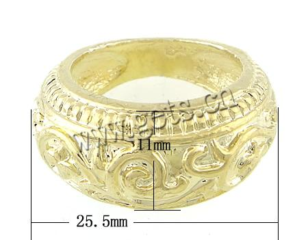 Zinc Alloy 25.5x11mm size 5.5 ring gold