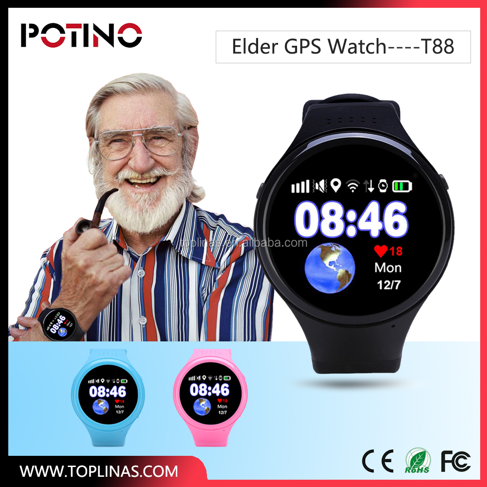 2017 Letine Private new mould gps smart watch health care smart watch for old man heart rate monitor android gps watch