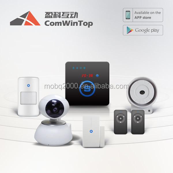 GSM sms alarm system mobile phone controller 24 Hours Zone fire alarm water leakage alarm 32 Wireless