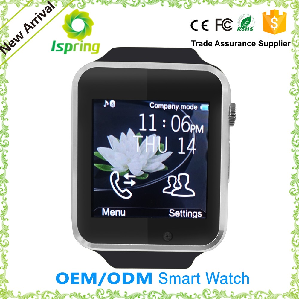 2016 New Design Touch Screen Silicone Band A1 Smart Bluetooth Watch