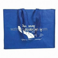 2016 simple design customers logo printing eco friendly blue non woven tote bag with low price