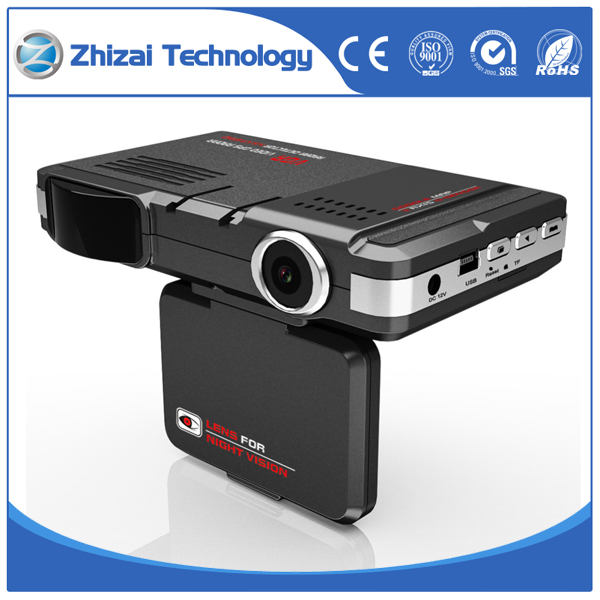 3 In 1 Radar detector dash cam Video camera for car Russia Car DVR