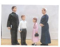 My Family - Mennonite Dollhouse Dolls (Sunday Best series)