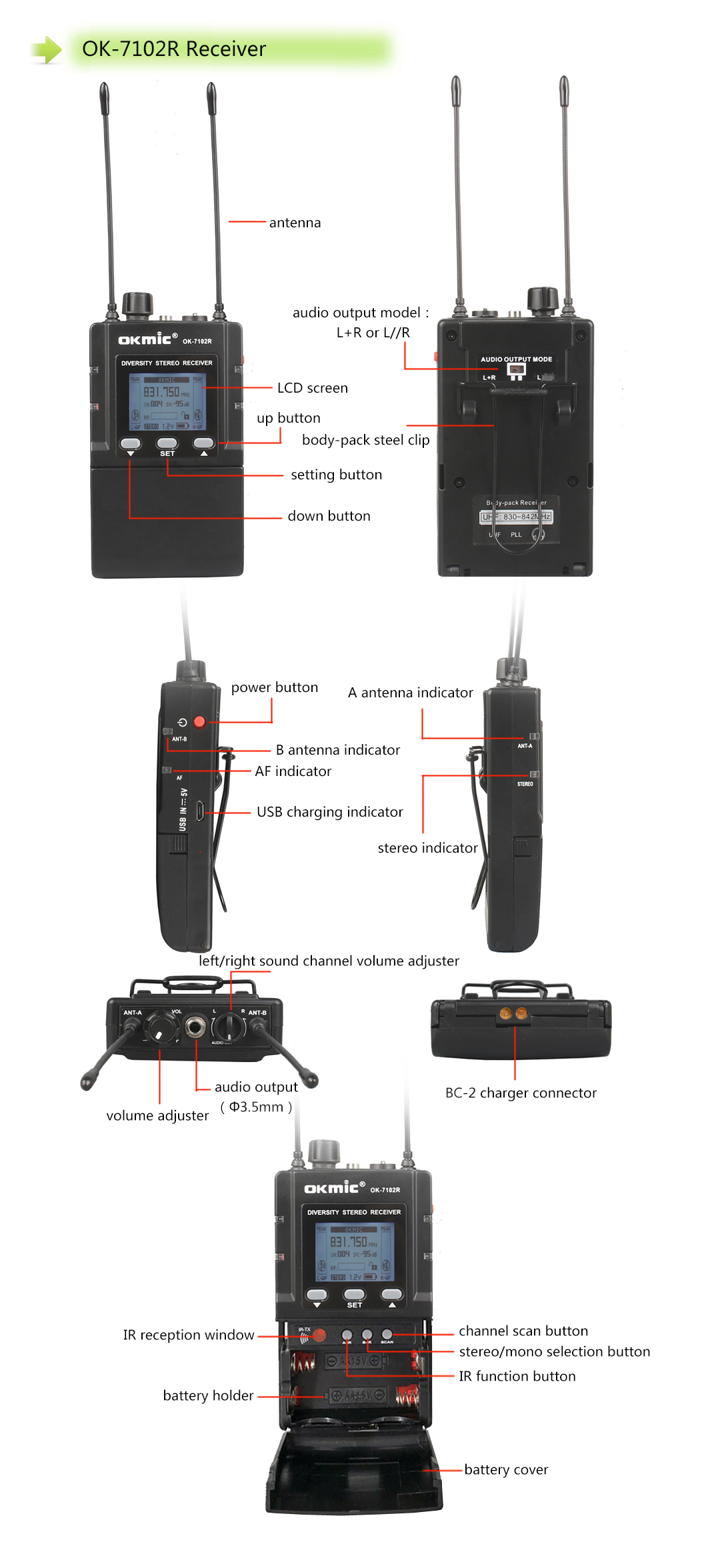 2019 Newest stereo In Ear Monitor Wireless System 782TX Monitoring Professional For Musicians