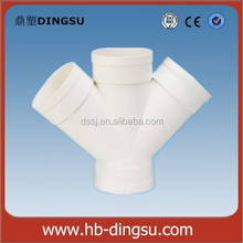 Plastic Sewage PVC Angle Cross Pipe Fittings