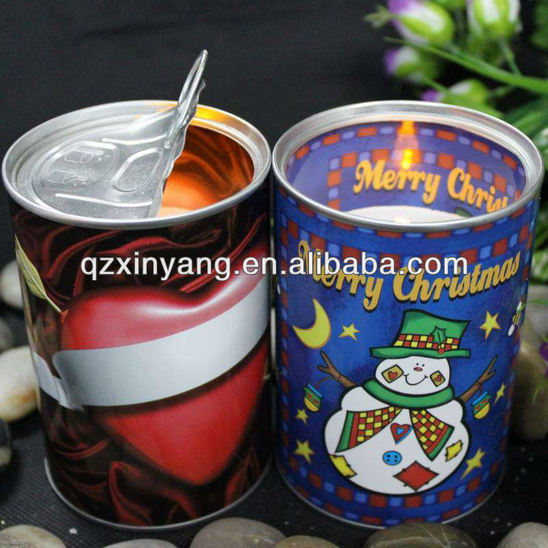Decorative Small Candle Tin Bucket