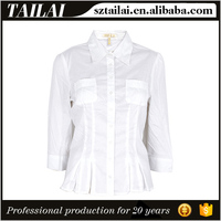 Clothes supplier Fitness Beautiful white shirt for women