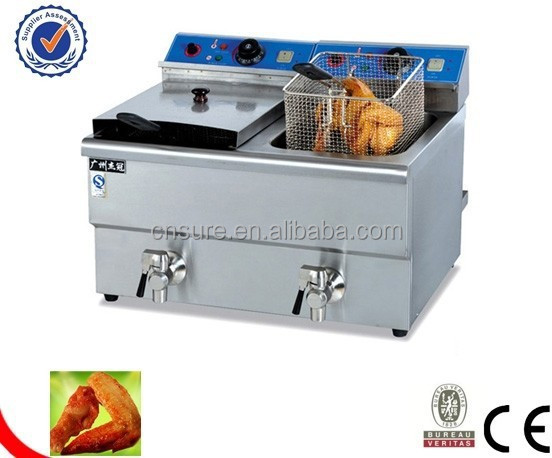 Counter top electric 2-tank fryer(2-basket)