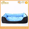 Large printing pattern winter dog bolster bed with PP cotton filled