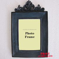 Top sales customized imitation metal resin 3d photo frame,resin photo picture frame