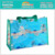 Eco-friendly Transparent Plastic Portable Waterproof Shopping Bag With Button Closure