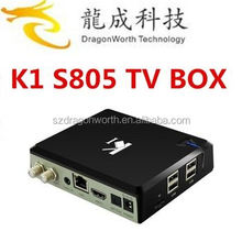 Original K1 DVB S2 Android TV Box+DVB-S2 Sat TV Receiver K1 S2 DVB S2 Amlogic S805 Quad Core 1GB/8GB Wifi