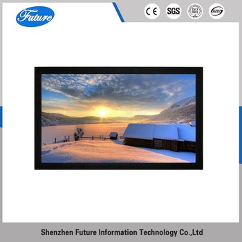 3D silver fixed frame projector screen
