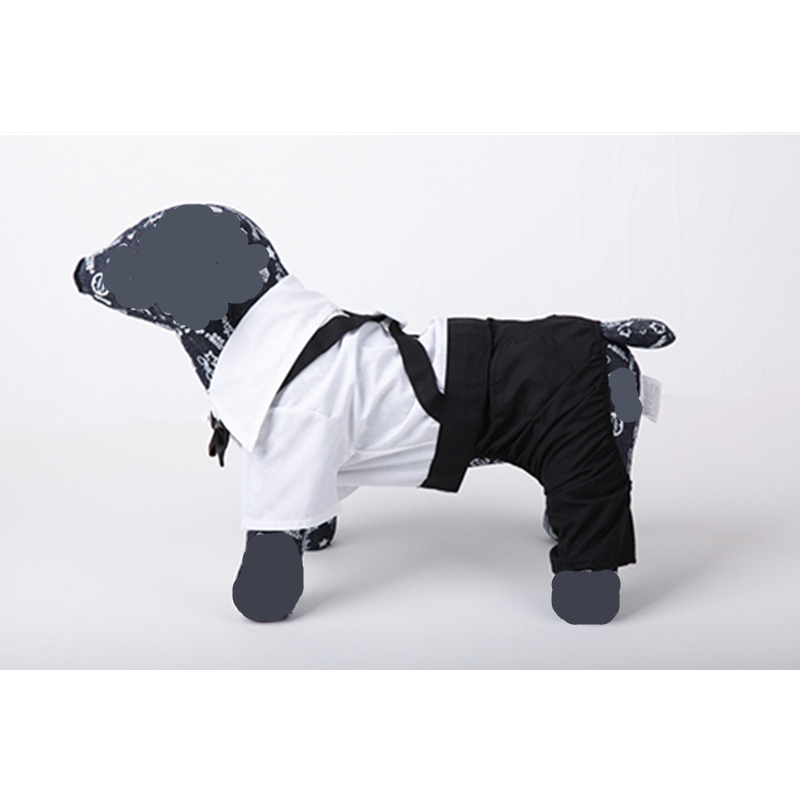 Hot Selling Blakc White Cotton Dog Suit