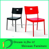 Modern White Plastic Shell Plastic Dining Chairs