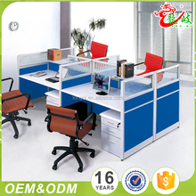 Modern design low price standard sizes of workstation furniture 4 seat office workstation partitions cubicle computer