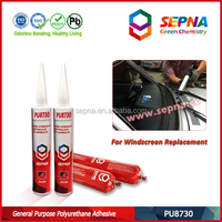 bus/truck windshield replacement one component moisture curing pu/polyurethane adhesive sealant