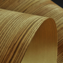 2018 New Product Natural Zebrano Flexible Craft Paper Back Wood Veneer Stock Available