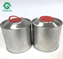 China metal empty screw top round can supplier