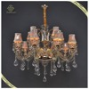 Comtemporary Large Crystal Chandelier Pendant Light, Hanging Candle Light LED Chandelier with Changing Color
