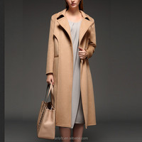 new style wool ladies long coats high-end graceful female thicken warm mink fur coat