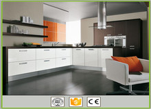 Modern design L shaped modular pvc kitchen cabinets designs imported from China