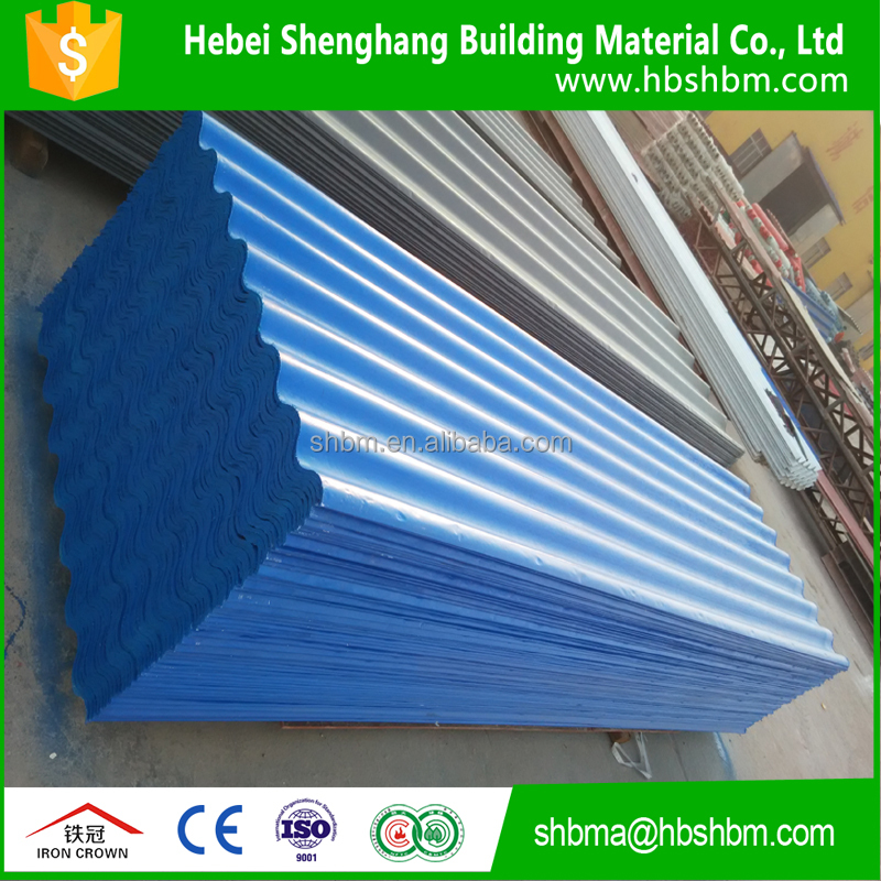 service life more than 20 years high strength fireproof Pet membrane mgo roofing tile