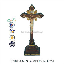 resin religious wood carving jesus