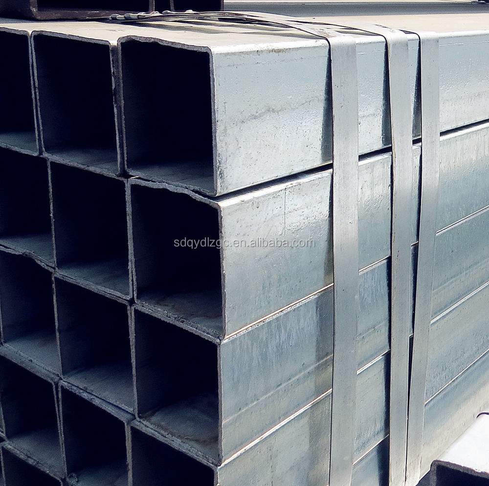 Hot dip galvanized square tubes AS1163galvanaized square pipe