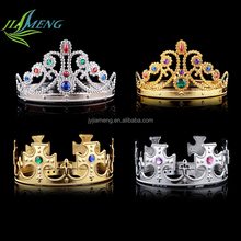 Wholesale Cheap Gold Plastic Kings Crown For Sale custom king crown