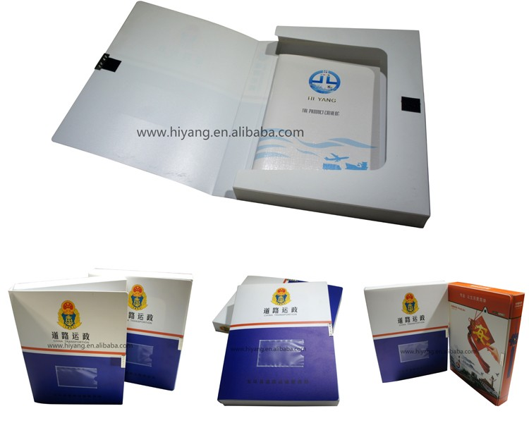 Manufacture custom printed A4 size file folder box with snap-fastener
