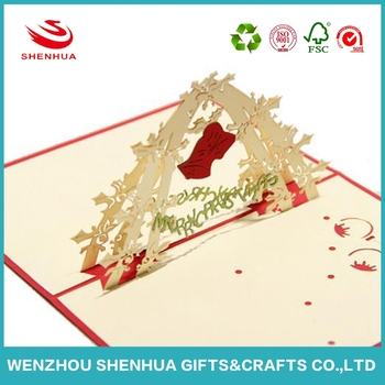wholesale Christmas Birthday 3D card handmade greeting cards