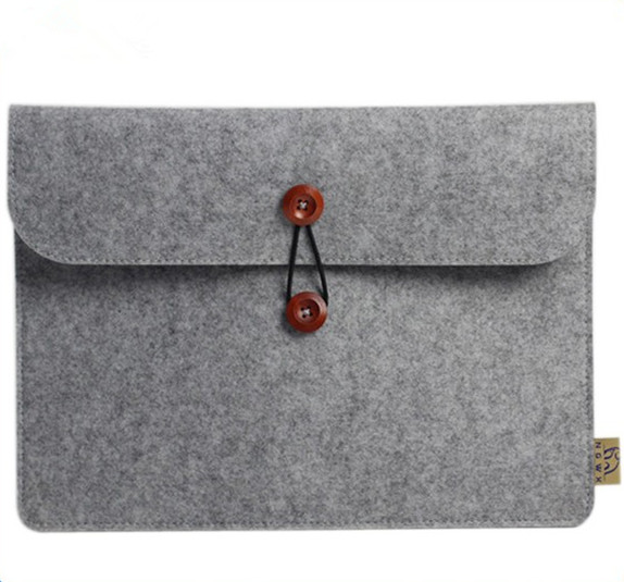 Tablet custom plush 11-15 inches sleeve case felt laptop bag