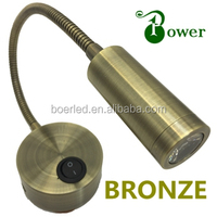 BRONZE 2W WALL MOUNTED LED READING LIGHTS FOR BEDROOM