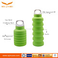 Best selling foldable silicone travel water bottle silicone sport bottle 550ml